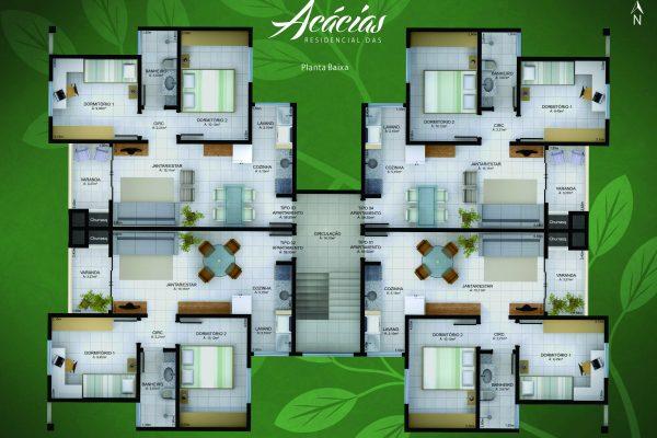 Residencial das acacias verso
